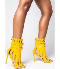 akira azalea wang fight me if you dare stiletto bootie in yellow