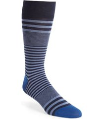men's cole haan skater stripe socks, size one size - blue
