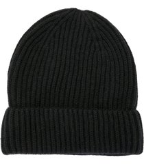 bally ribbed knit cashmere beanie - blue