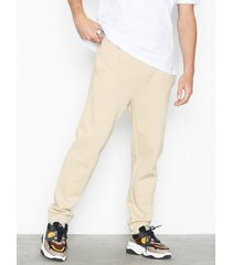 topman stone recycled cotton joggers byxor stone