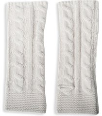 portolano women's cabled cashmere arm warmers - ivory