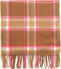 joules women's bracken soft handle scarf - beige pink check