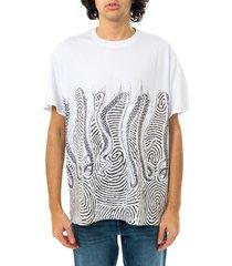 octopus t-shirt uomo fingerz tee 21sots25.wht