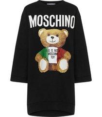 moschino italian teddy bear mini dress