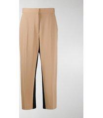 stella mccartney cropped side panel trousers