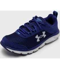 zapatilla ua w charged assert 8 azul under armour