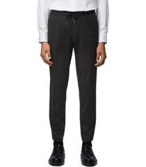 boss men's micro-patterned slim-fit trousers