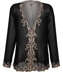 bluskavaj mona svart::guldfärgad