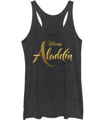 disney juniors' aladdin aladdin live action logo tri-blend tank top