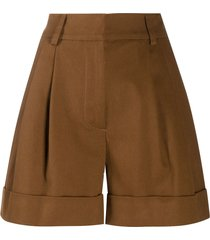 p.a.r.o.s.h. casual tailored shorts - brown
