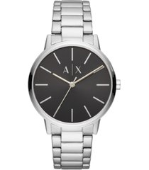 ax armani exchange men's cayde stainless steel bracelet watch 42mm