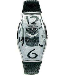 relógio de pulso chronotech prisma flat - aço