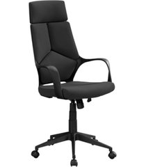 monarch specialties high back executive office chair in black