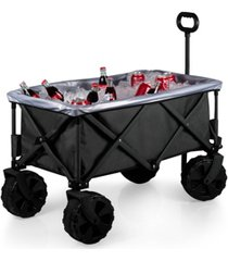oniva by picnic time black adventure wagon elite all-terrain portable utility wagon