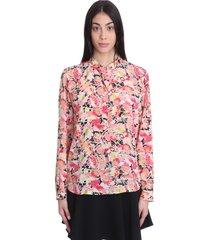 stella mccartney eva shirt in multicolor silk