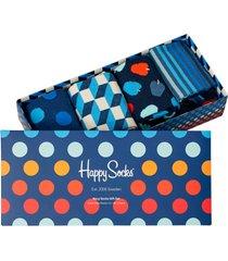 strumpor 4-pack navy socks gift set