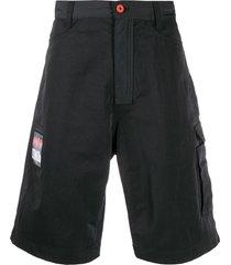 heron preston loose-fit cargo shorts - black