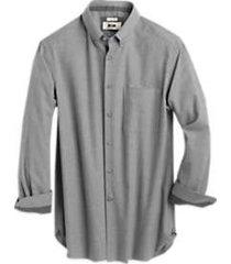 joseph abboud gray houndstooth cotton & cashmere classic fit sport shirt