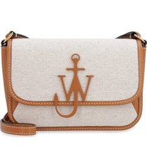 j.w. anderson braided anchor canvas and leather crossbody bag