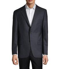 hickey freeman men's wool-blend suit jacket - blue - size 40 s