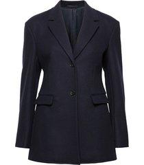 ancona coat wollen jas lange jas blauw filippa k