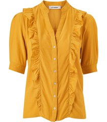 blus essential frill shirt
