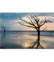 "danny head reflections of boneyard beach canvas art - 37"" x 49"""
