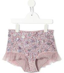 tutu du monde broadway bead-embellished shorts - pink