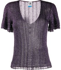 m missoni lurex knitted top - purple
