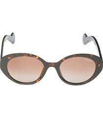 50mm faux tortoiseshell oval sunglasses