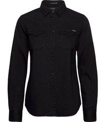 shirt overhemd met lange mouwen zwart replay