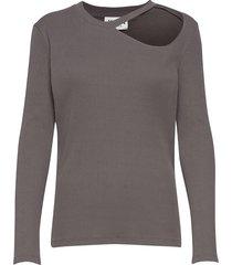 rancho ls tee t-shirts & tops long-sleeved grå just female