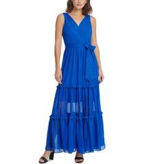 dkny tiered maxi dress