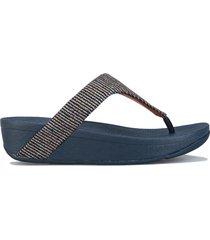 womens lottie glitter stripe toe thong sandals