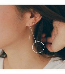 925 orecchini lunghi della nappa del cerchio dell'argento sterlina