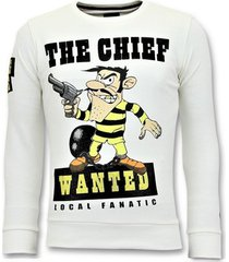 sweater local fanatic rhinestones sweater - the chief wanted trui -