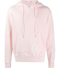 thom browne loopback garment-dyed hoodie