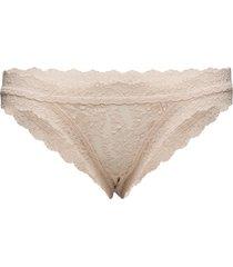 bikini signature lace trosa brief tanga beige hanky panky