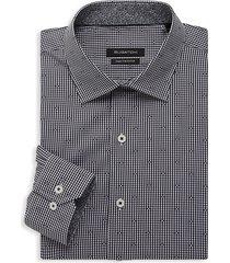 bugatchi men's regular-fit dress shirt - black - size 15