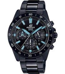 reloj casio efv-570dc-1avudf negro acero inoxidable
