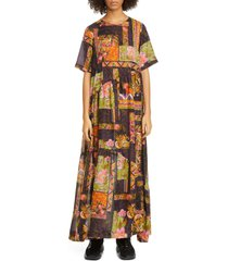 women's collina strada ritual floral print maxi dress