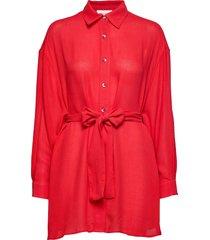 azulay långärmad skjorta röd american vintage