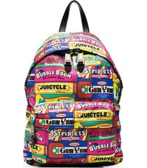 moschino patchwork sweets print backpack - white