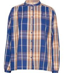 nonie wide shirt blouse lange mouwen blauw second female