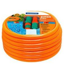mangueira para jardim 20m tramontina 79212201 super flex laranja
