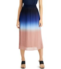 alfani petite pleated gradient midi skirt, created for macy's
