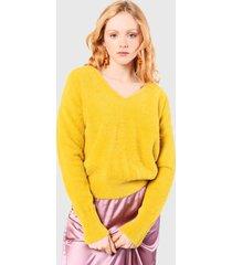 sweater glamorous amarillo - calce holgado