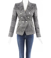 balmain houndstooth wool blazer jacket