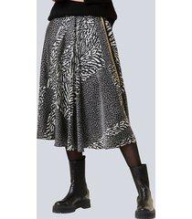 rok alba moda zwart::grijs::geel