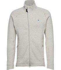 balder zip m's sweat-shirts & hoodies fleeces & midlayers grå klättermusen